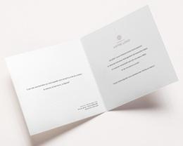Carte de voeux avec logo d'entreprise Bauhaus Bleu, Art Moderne, dorure pas cher