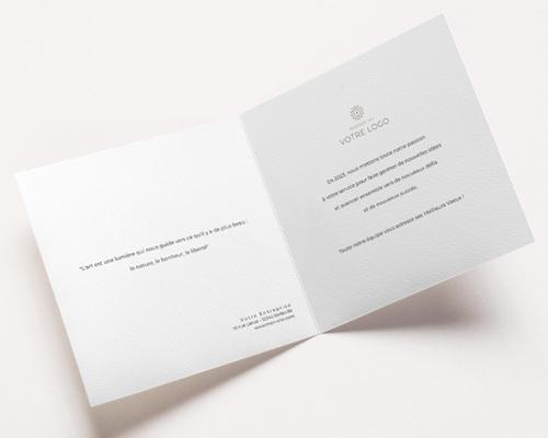 Carte de Voeux Entreprise Bauhaus Bleu, Art Moderne, dorure pas cher