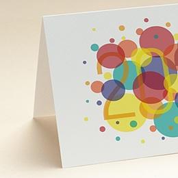 Carte de Voeux Entreprise Bulles Festives, Vernis 3D, Ouverture Portefeuille