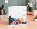 Carte de Voeux Entreprise L'Everest doré, Montagnes colorées gratuit