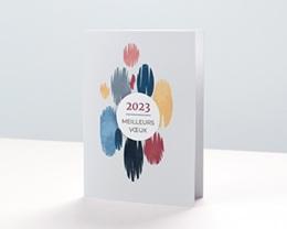 Carte de Voeux Entreprise Pictural, Tâches Colorées, Vernis 3D