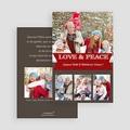 Carte de vœux particulier - Love and peace