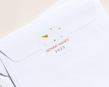 Autocollant Enveloppe Entreprise Personnalisé Boite à Idées, Fusée, Sticker