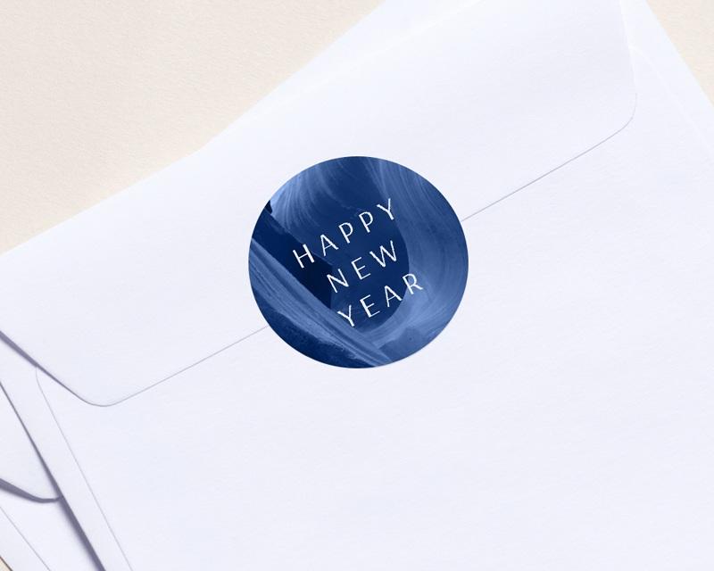Autocollant Enveloppe Entreprise Personnalisé Canyon Bleu graphique, 4,5 cm