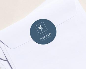 Autocollant Enveloppe Entreprise Personnalisé Nouvelle Année Pastel, sticker