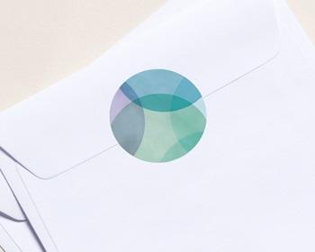 Autocollant Enveloppe entreprise 2022 Personnalisé Créatif, Art déco, Pastel