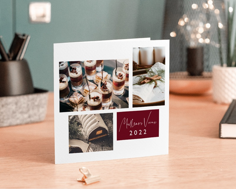 Carte de Voeux Entreprise Noel au chaud gratuit