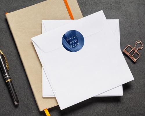 Autocollant Enveloppe Entreprise Personnalisé Canyon Bleu graphique, 4,5 cm pas cher