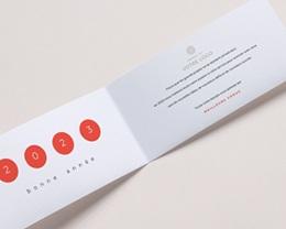 Carte de Voeux Entreprise Année en braille, Vision, Orange pas cher