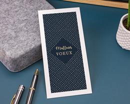 Carte de Voeux Entreprise Lignes et points dorés gratuit