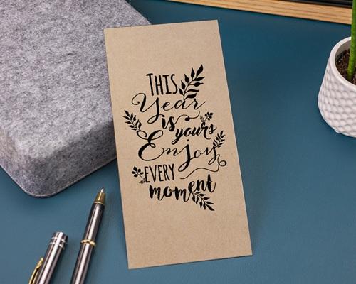 Carte de Voeux Entreprise New Year Kraft gratuit