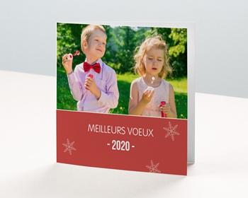 Carte de vœux particulier - Rouge Noel - 1