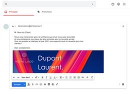 Carte Virtuelle Réseaux Sociaux Ruban multicolore, Pack Social Networks gratuit