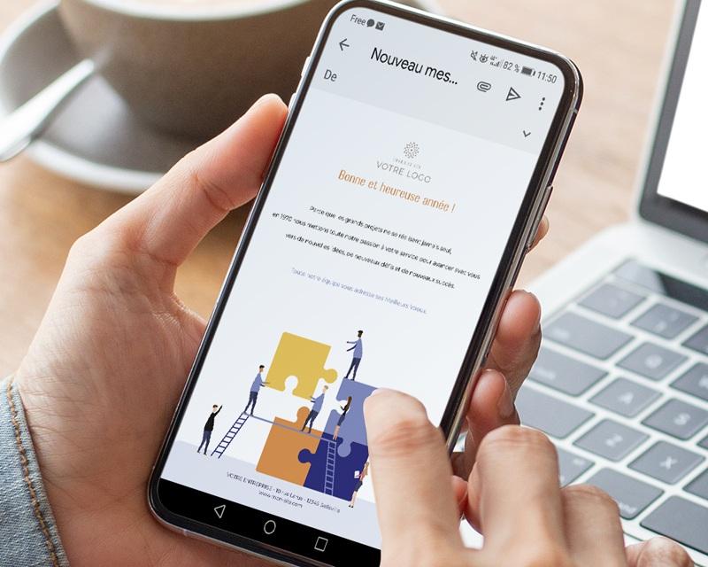 Carte Virtuelle Réseaux Sociaux Puzzle Immobilier, Pack Social Networks pas cher