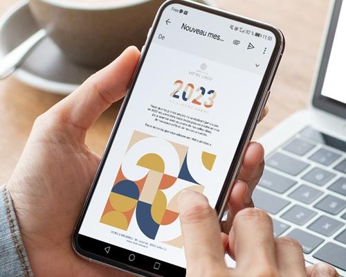 Carte Virtuelle Réseaux Sociaux Rétro Bauhaus, Pack Réseaux sociaux pas cher