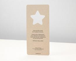 Carte de Voeux Entreprise Noel Découpe étoile, Fond Nature pas cher