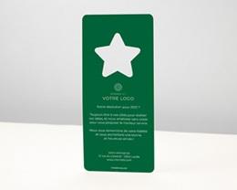 Carte de Voeux Entreprise Noel Découpe Etoile de Noël, Vert Jardin pas cher