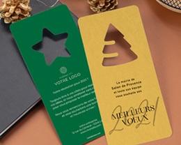 Carte de Voeux Entreprise Noel Découpe Etoile de Noël, Vert Jardin gratuit