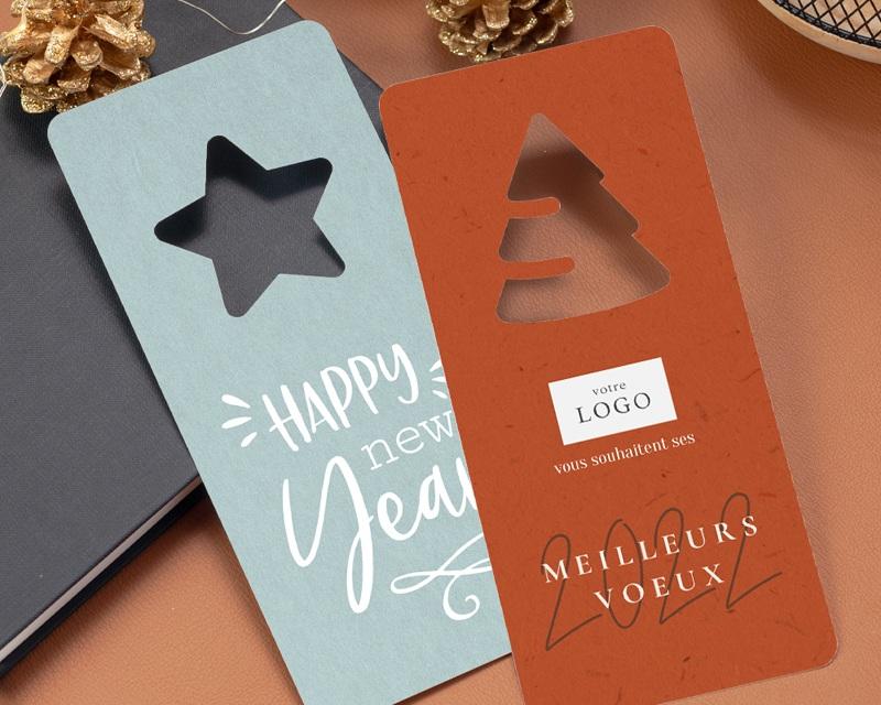 Carte de Voeux Entreprise Originale Découpe Sapin de Noël, Rouge Festif gratuit