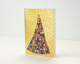 Carte de Voeux Entreprise Traditionnelle Patchwork coloré & Pavage doré relief - Artik Collection