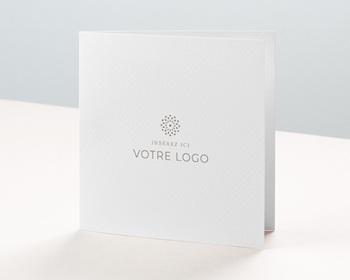 Carte de Voeux Entreprise - 100% Création, Carré double volet, 14 x 14 cm - 0