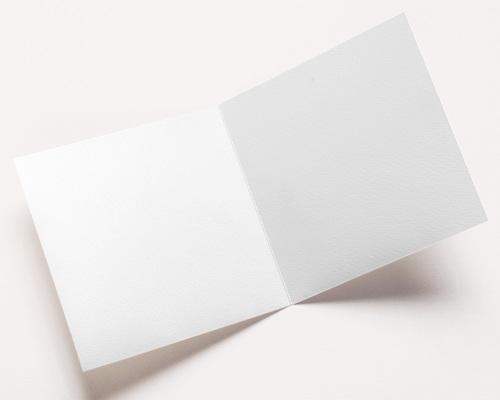 Carte de voeux avec logo d'entreprise 100% Création, Carré double volet, 14 x 14 cm pas cher