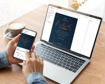 Carte Virtuelle Réseaux Sociaux Ciel étoilé, Pack réseaux sociaux