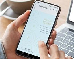 Carte Virtuelle Image Ecard, Ondes dorées, Rayonnements positifs