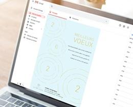 Carte Virtuelle Image Ecard, Ondes dorées, Rayonnements positifs pas cher