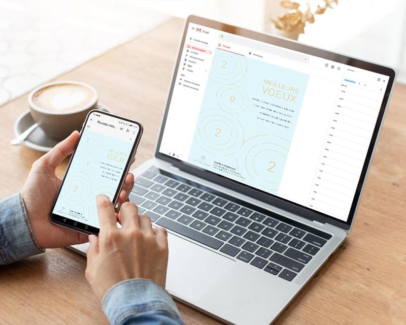 Carte Virtuelle Image Ecard, Ondes dorées, Rayonnements positifs gratuit