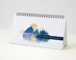 Calendrier entreprise Photos, Multipages, Aquarelle Japonisante, 20 x 11 cm