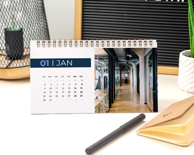 Calendrier entreprise Photos, Multipages, Aquarelle Japonisante, 20 x 11 cm pas cher
