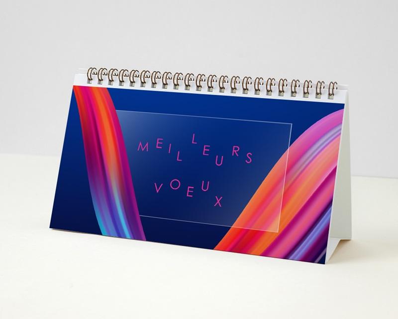 Calendrier entreprise Multipages, Photos, Ruban multicolore, 20 x 11 cm