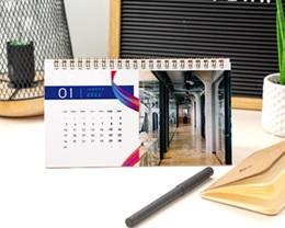 Calendrier entreprise Multipages, Photos, Ruban multicolore, 20 x 11 cm pas cher