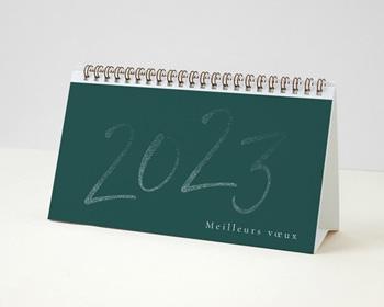 Calendrier entreprise 2022 Multipages, Photos, Année scintillante, Vert, 20 x 11 cm