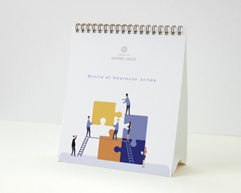 Calendrier entreprise Multipages, Photos, Puzzle immobilier, 16 x 18 cm
