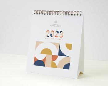 Calendrier entreprise 2022 Multipages, Photos, Rétro Bauhaus, 16 x 18 cm