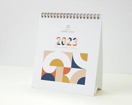 Calendrier entreprise Multipages, Photos, Rétro Bauhaus, 16 x 18 cm