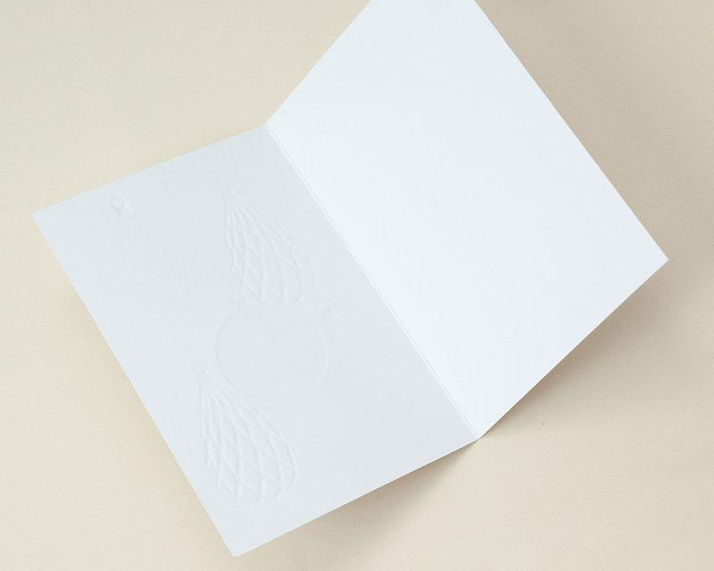 Carte de Voeux Entreprise Traditionnelle Suspensions de Noël, relief & dorure - Artik Collection gratuit