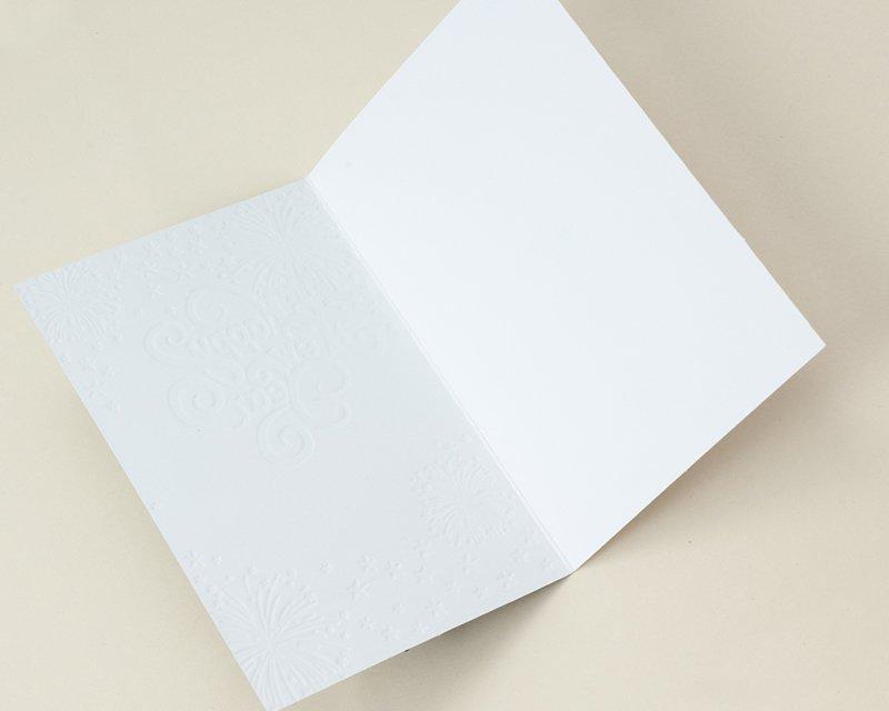 Carte de Voeux Entreprise Traditionnelle Feux d'artifice, Etoiles relief & dorure, Artik Collection gratuit