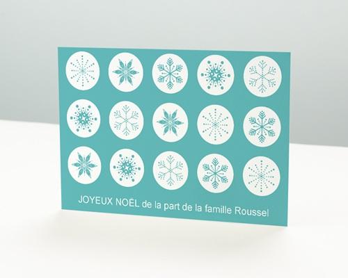 Carte de vœux particulier - Tampon flocon