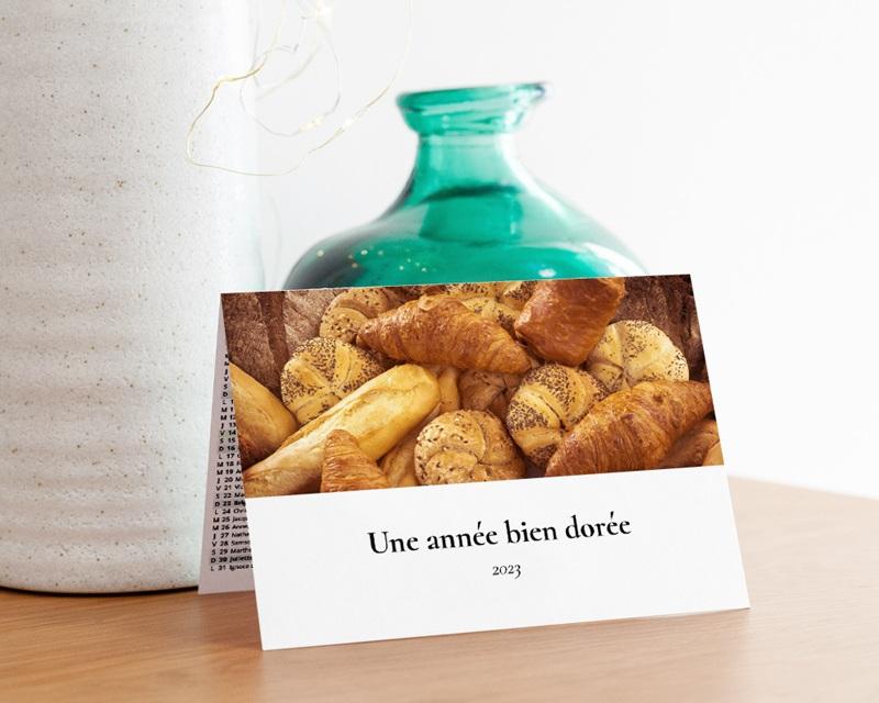 Calendrier entreprise Voeux Boulanger gratuit