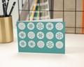 Carte de vœux particulier - Tampon flocon 2