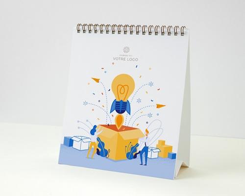 Calendrier entreprise Photos, Multipages, Idées Créatives, Boite à Idées, Fusée, 16 x 18 cm