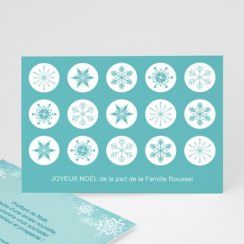 Carte de vœux particulier - Tampon flocon 3