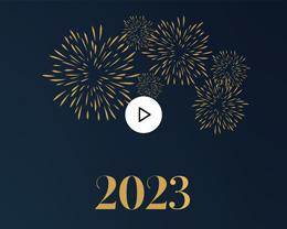 Carte Virtuelle Vidéo Feux d'artifice Doré