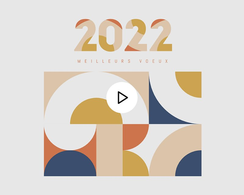 Carte Virtuelle Vidéo Rétro Bauhaus, Orange et Bleu