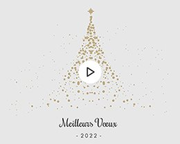 Carte Virtuelle Vidéo Sapin doré
