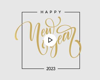 Carte Virtuelle Vidéo Happy New year Doré