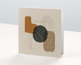 Carte de voeux avec logo d'entreprise Matières Minérales et Dorures